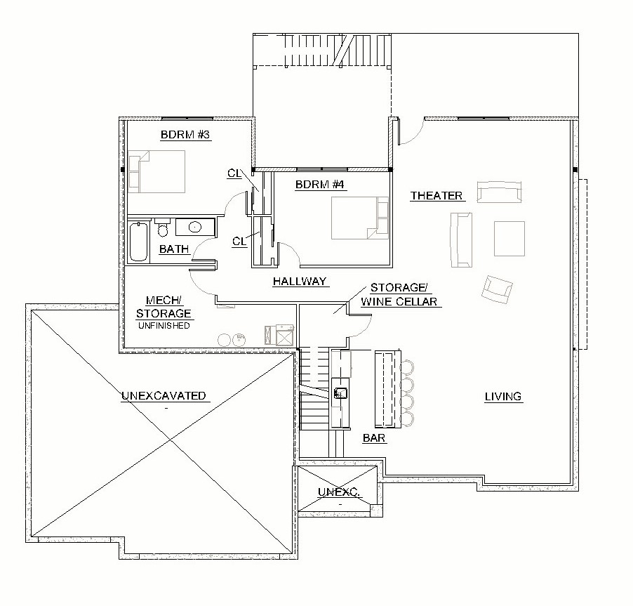 Custom ranch floor plan ccs homes custom home builder for Custom ranch house plans