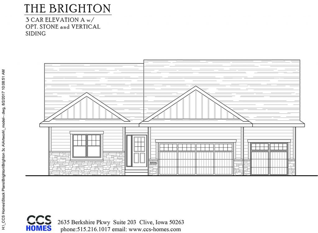 The brighton ranch floor plan ccs homes des moines for Iowa home builders floor plans