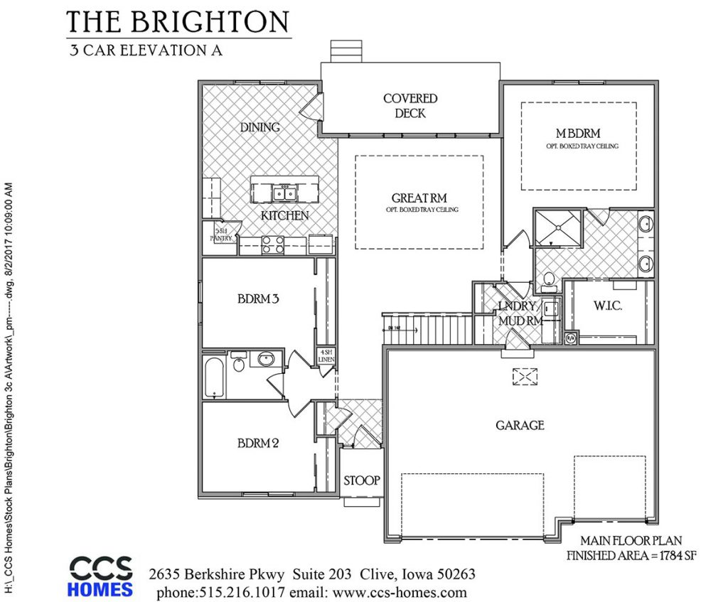 The Brighton Ranch Floor Plan | CCS Homes | Des Moines, Iowa Home ...